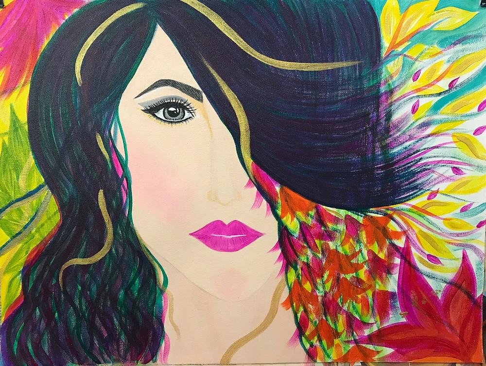 "Acrylic Painting  ""Hope II"" by Leeza A. Harris."