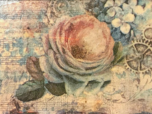 Decoupage Vintage Themed Tray by The Chrysalis Studio
