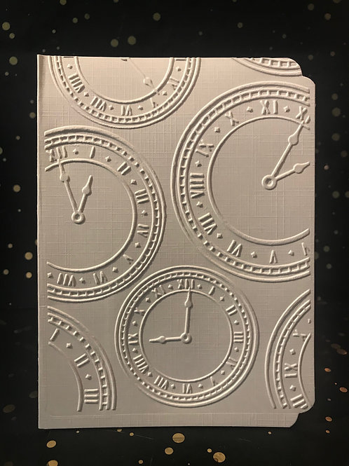 Time - Hand embossed card