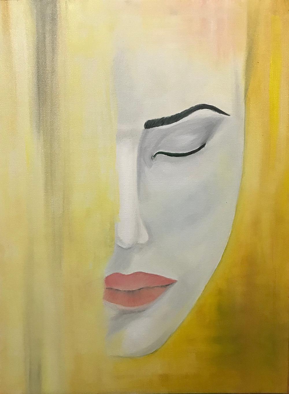 "Oil Painting process of ""Awake"" by Leeza A. Harris."