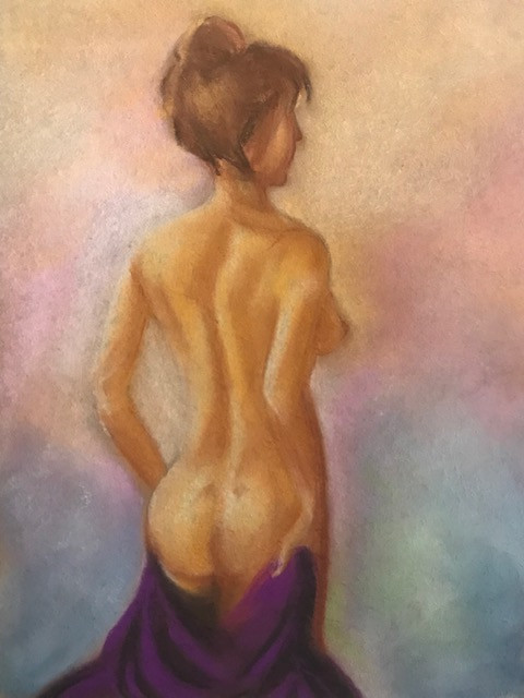 Soft pastel painting titled Bare by Leeza A. Harris, 2019