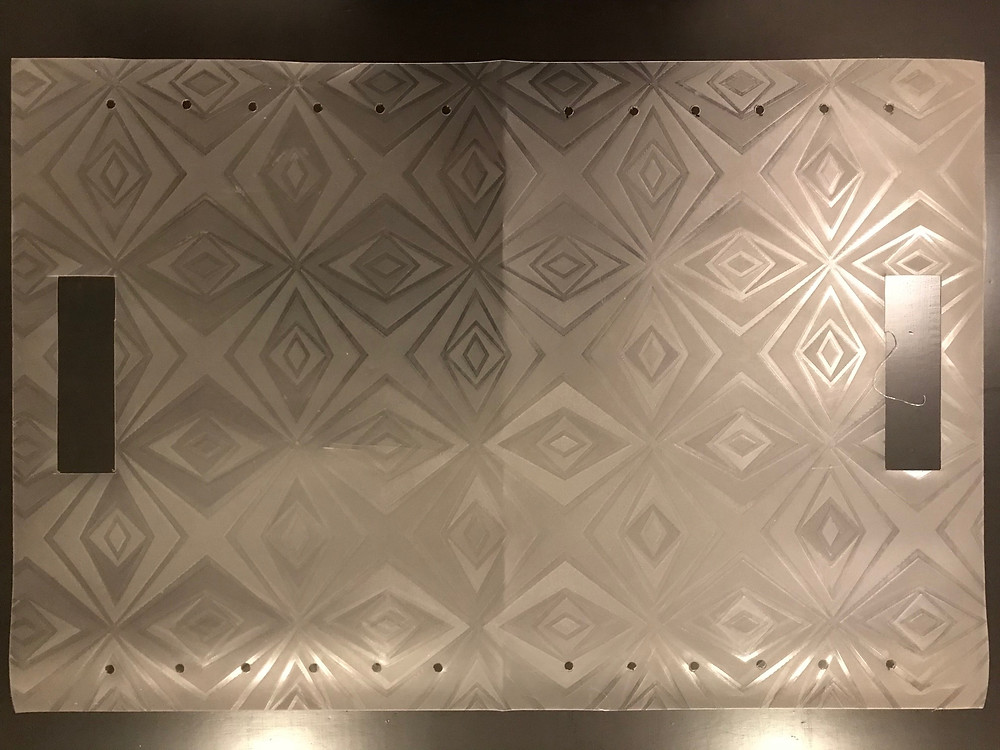 Plastic sheet with handles cut out on both sides