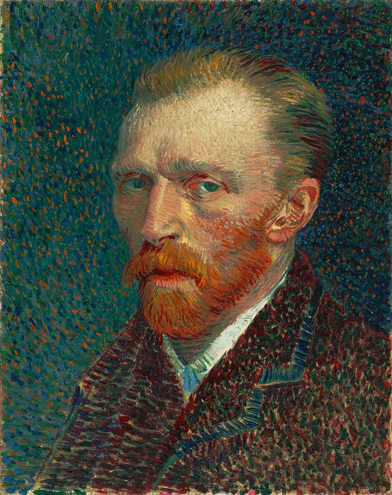 Painting by Vincent Van Gogh using the Pointillism Technique
