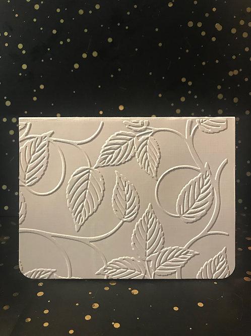 Leaves - Hand embossed card.