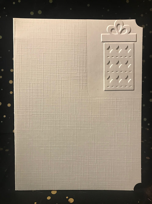 Gift- Hand embossed card