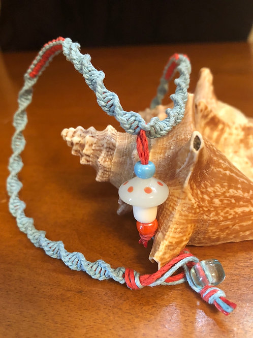 Mushroom Hemp Necklace