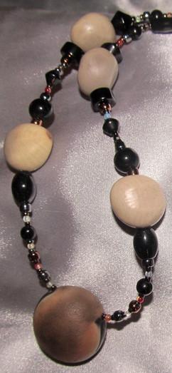 Caribbean drift bean and firestone neckl