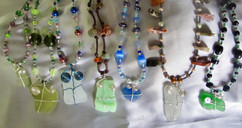Sea glass necklaces from way back .jpg