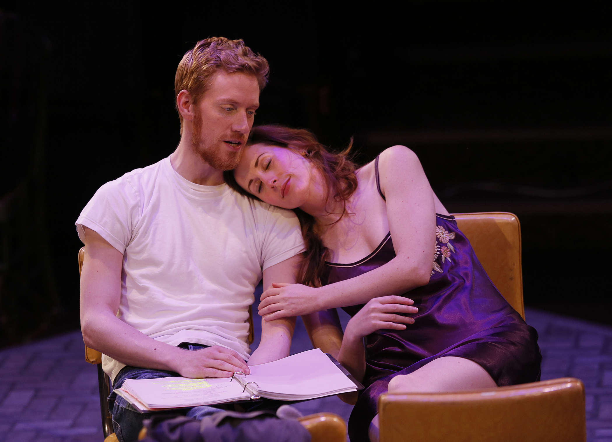 BRIDGES - Robert (Randy Scholz) sings to Francesca (Megan Renae Parker)