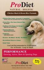 1 Bag: ProDiet Performance Dog Food