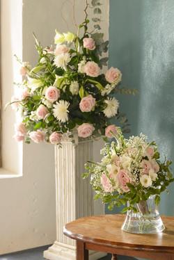 Bridal Bouquet and Flower Pedestal