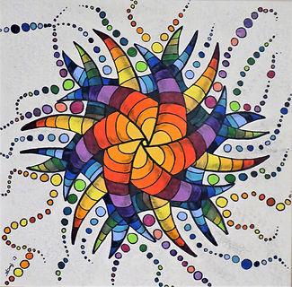 Lebensfreude Inspiration Farbstift Farben Kraftvoll