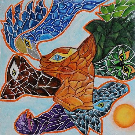 Tierkunst farbig spannend interessant