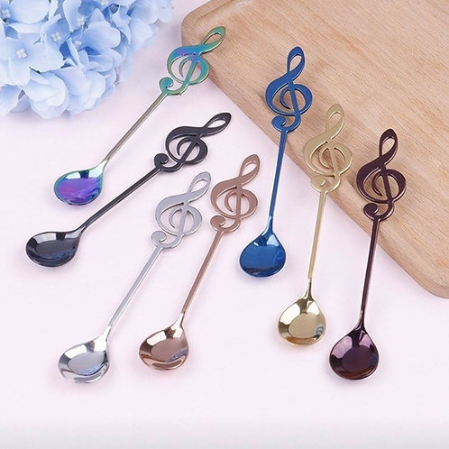 Stainless Steel Treble Clef Teaspoons