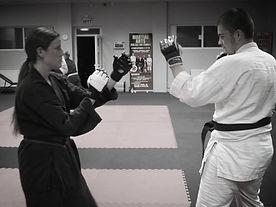adult karate sparring