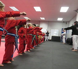little ninjas karate red punch children totton