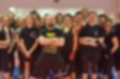 kickboxing group smiling