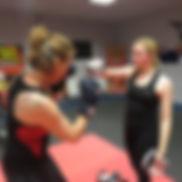 ladies 13years kickboxing Totton TRK Kickboxing