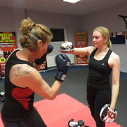 ladies 13years kickboxing Totton TRK Kickboxing