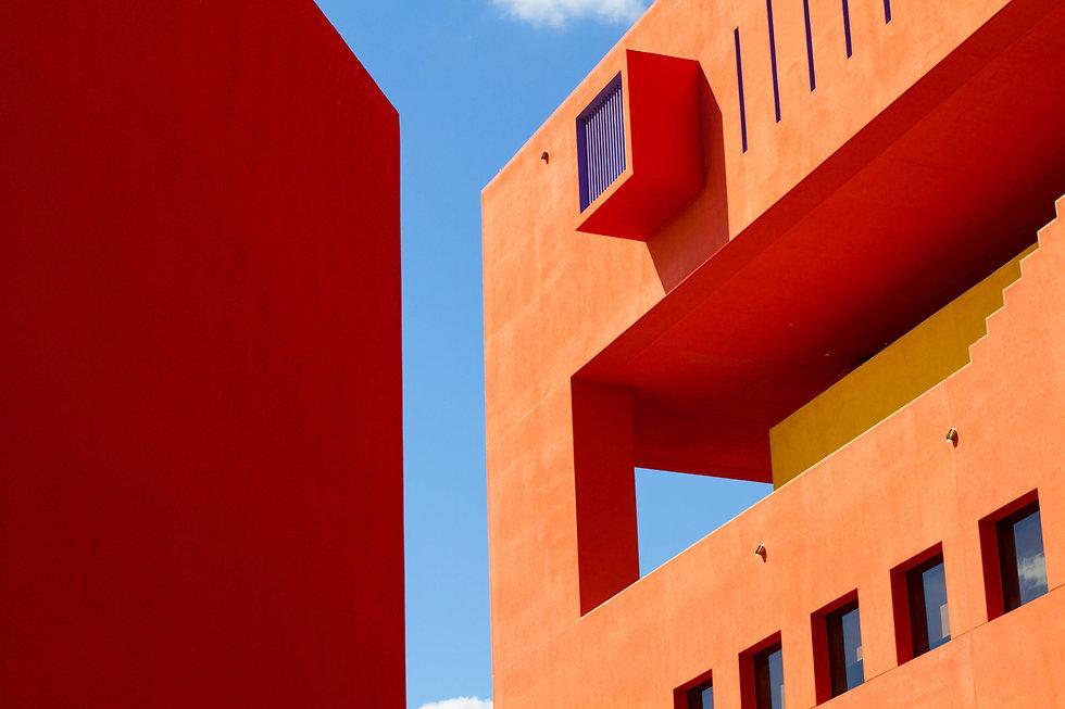 Laranja construção moderno