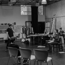 Photography of rehearsals for To Have To Shoot Irishmen at The Everyman theatre, Liverpool.