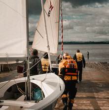 Promotional images for Liverpool Sailing Club, taken during a sailing skills course with a number of participants & volunteer staff.