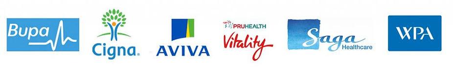 Health Insurances: Bupa Cigna Aviva Vitality Saga WPA