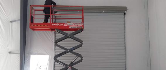 Multi-Door Commercial Steel Roll-up Door Installation Site