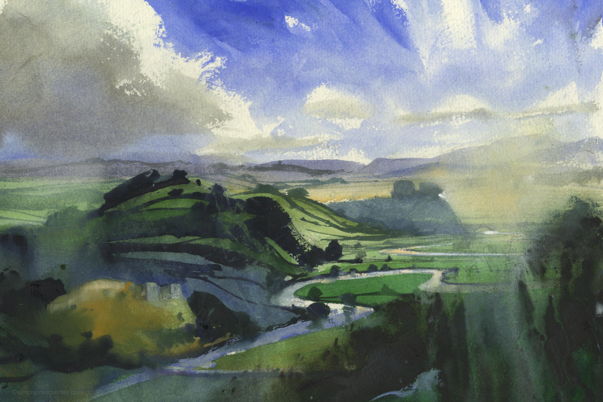 191 Towy Valley signed print
