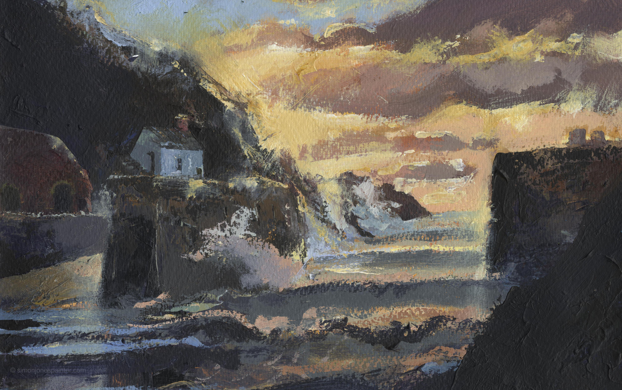 203 Porthgain North Westerly signed prin