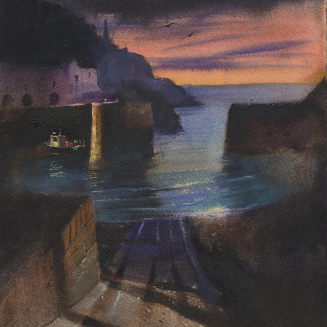 192 Porthgain Sunset Axis