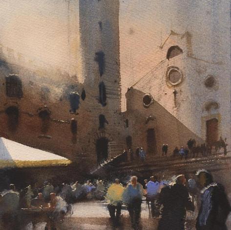 180 Evening San Gimignano