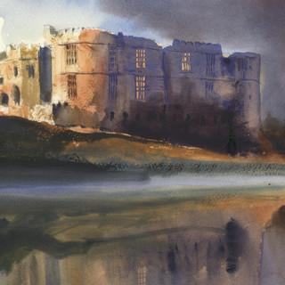 43 Carew Castle Autumn Mist