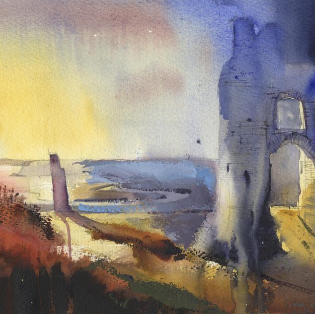 24 Evening Pennard Castle Gower