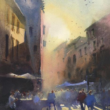 182 Morning Mist San Gimignano