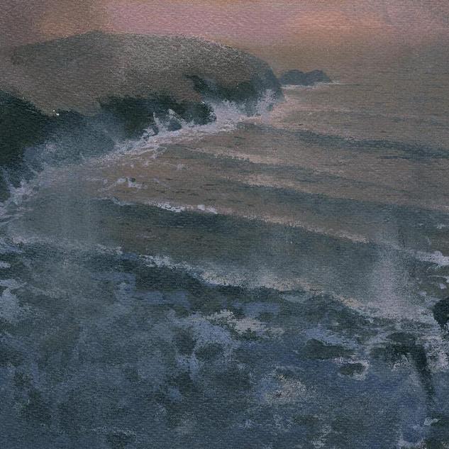 140 Sunset Storm Near Porthgain