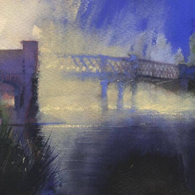 187 Morning Mist Iron bridge Llandeilo