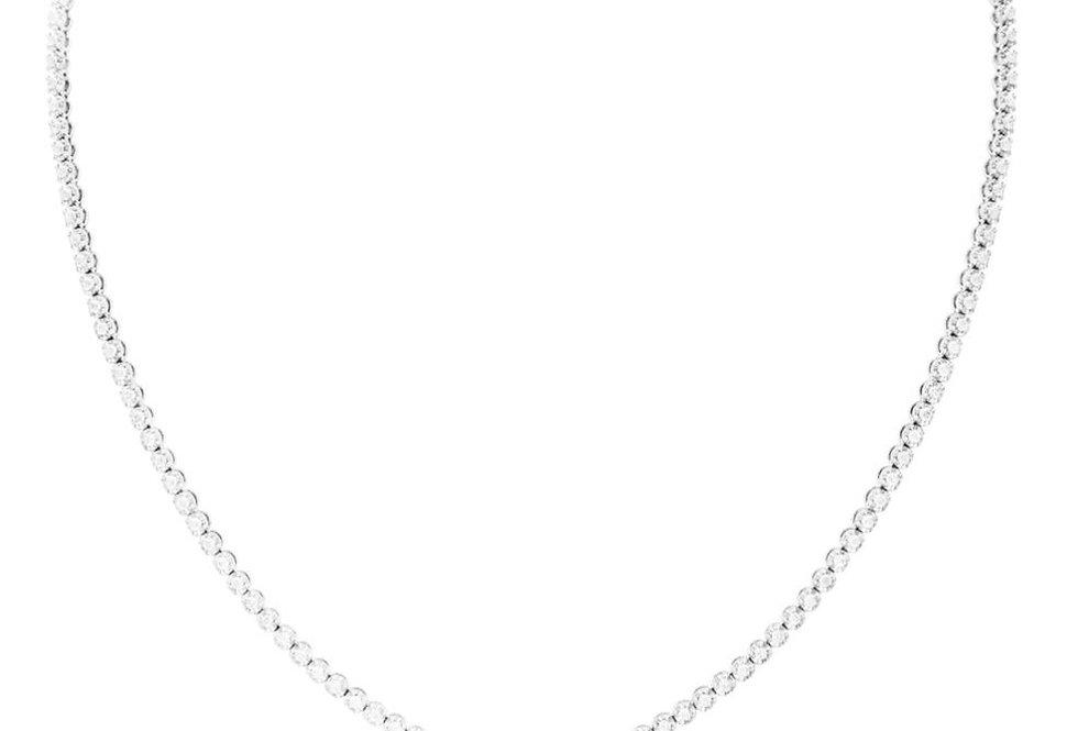 White Diamond Chocker with Diamond Drop