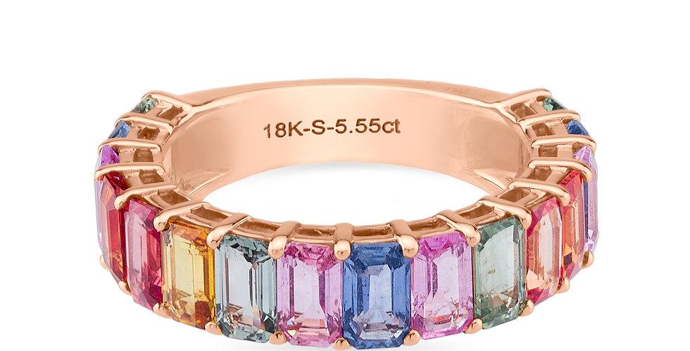 Rainbow Ring Baguette
