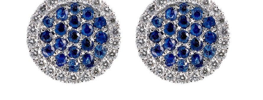 Roundies Earrings (Sapphires)