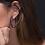 Thumbnail: Eclipse Hoop Earrings (Oval Blue Sapphire)