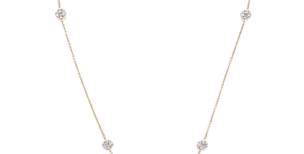 Diamond Dot Full Necklace