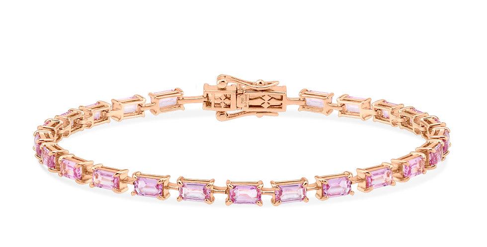 Baguette Pink Sapphire Bracelet