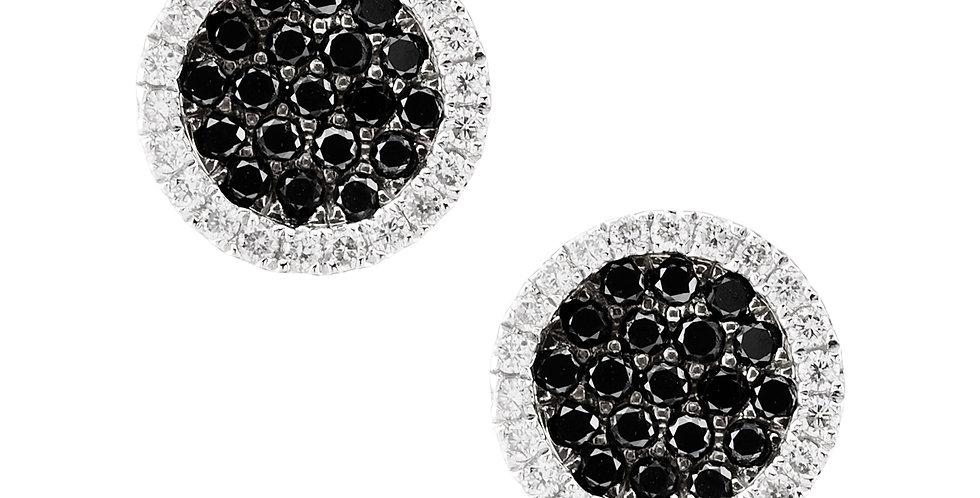 Roundies Earrings Black Diamonds