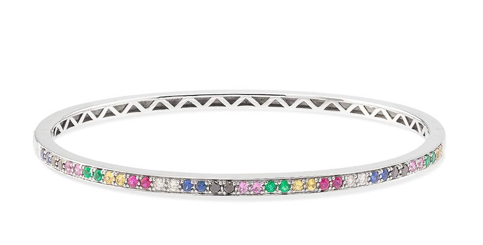 Multicolor sapphire bangle