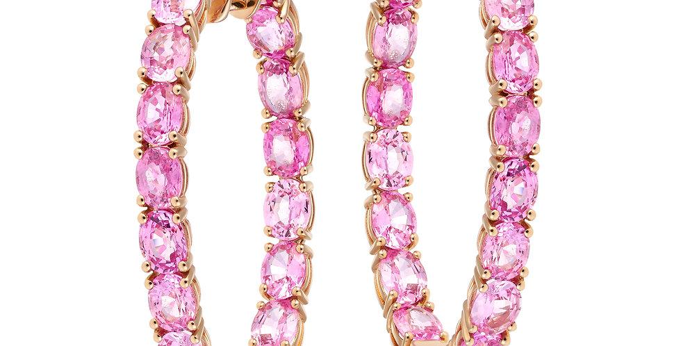 Eclipse Hoop Earrings (Pink Sapphire)