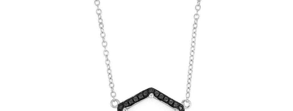 Hex pendant (moonstone and diamonds)