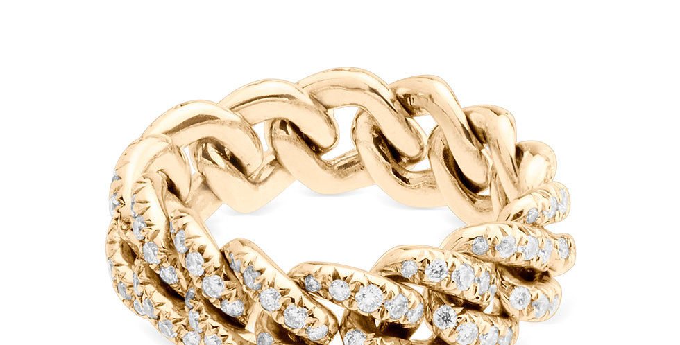 Chain Diamond Ring