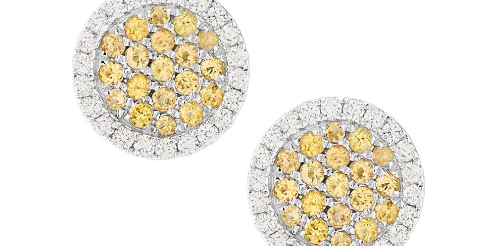 Roundies Earrings (Yellow Sapphires)