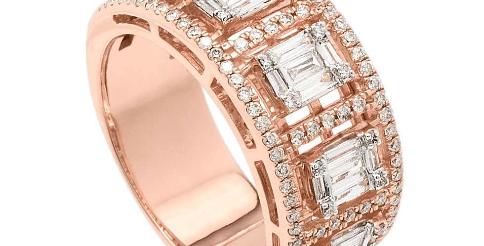 Classic baguette diamond ring